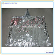 Windproof disposable breathable rain poncho
