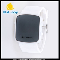 WJ-5153 New Arrival Mirror Sport LED Digital Watch LED Silicon Hot Sale Watch