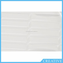 Rectangle Clear Epoxy Resin Stickers Logo Doming Labels