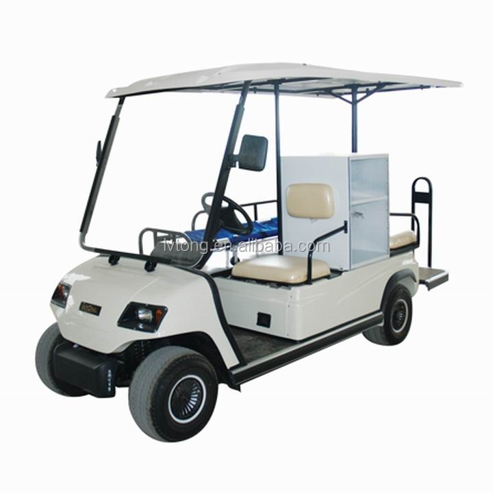 2 seats electric hospital transport kart for ambulance