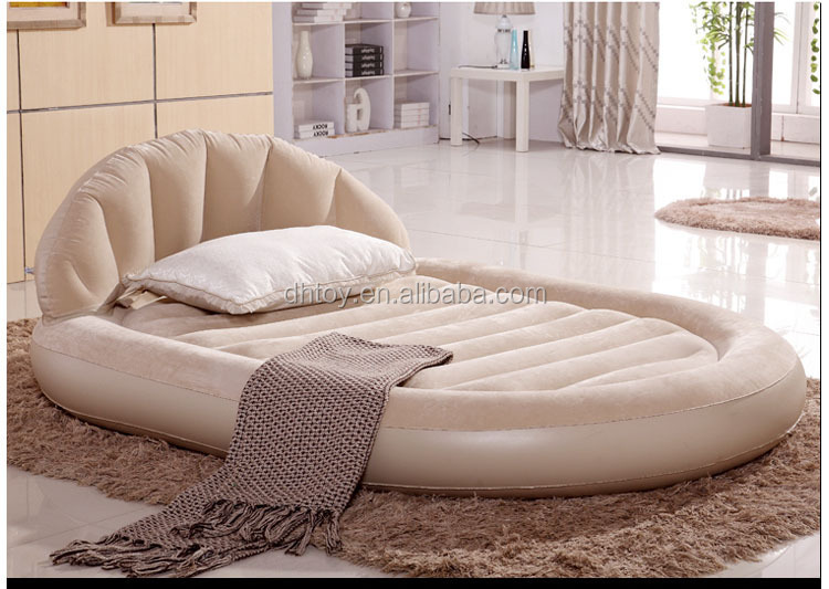 luxury double flocking inflatable bed