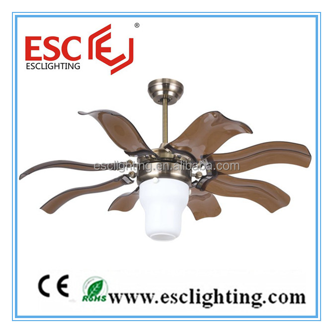 Unique Design 42 Inch Retractable Blade Ceiling Fan with 8 ABS Blades