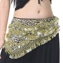 New Fashion Tribal Leopard Print Belly Dance Party Waist Chain With 480 Coins