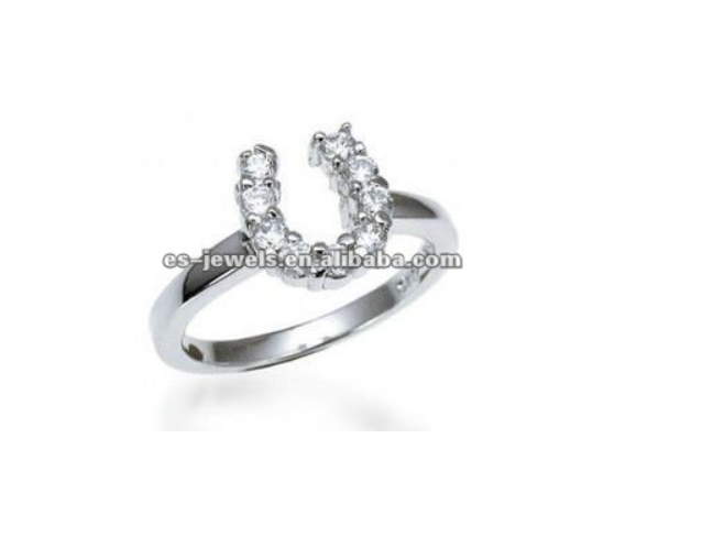 beautiful charming titanium horse foot ring for women