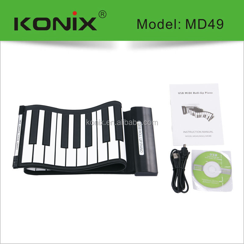 mini roller piano,49-key digital roll up piano