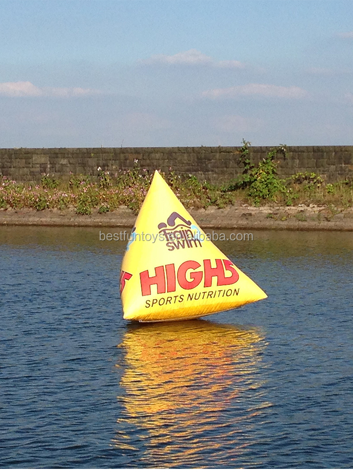 Promotional customized inflatable advertising marker buoys plastic water floating buoy