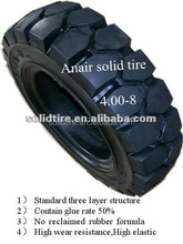 4.00-8 3-layer rubber forklift standard solid tires