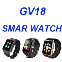 GV18 smart watch phone with touch display and camera watch/GSM watch phone 2016