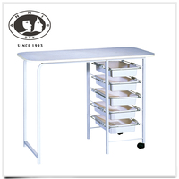 Wholesale chinese supplier luxury cheap salon furniture 1 year warranty vented nail table