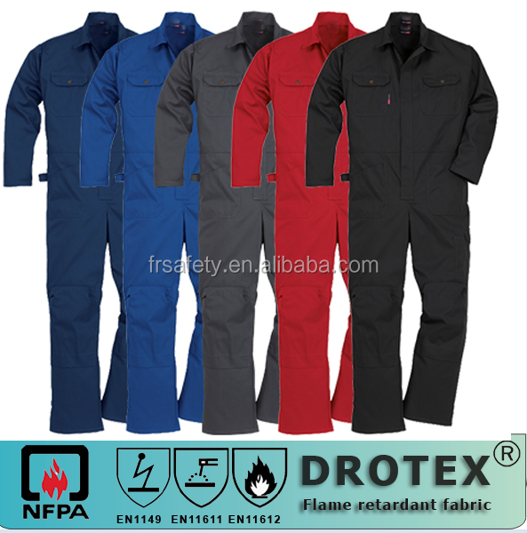 NFPA2112 ASTMF 1506 88% cotton with 12% nylon flame retardant welder uniform fire resistant protective clothing series colorful