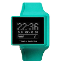 2017 programmable touch screen watch silicone lcd watch digital watch personalized