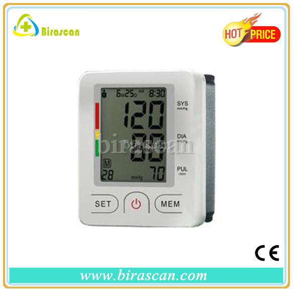 Fully Automatic Wrist Digital Blood Pressure and Pulse Monitor with Large LCD