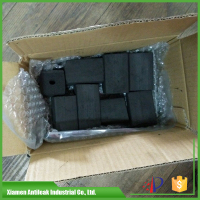 black hookah shisha charcoal briquette pieces natural bamboo material