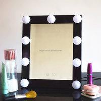 2017 Professional hairdresser station salon makeup dressing led light cosmetic mirror, led salon mirror makeup mirror light