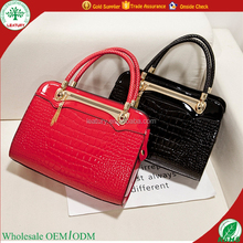 2016 top grain crocodile skin leather tote bag woman handbag fashion genuine leather handbag