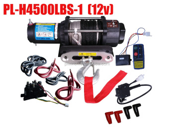 auto winch recovery trailer rope electric winch 4500lbs with competitive price