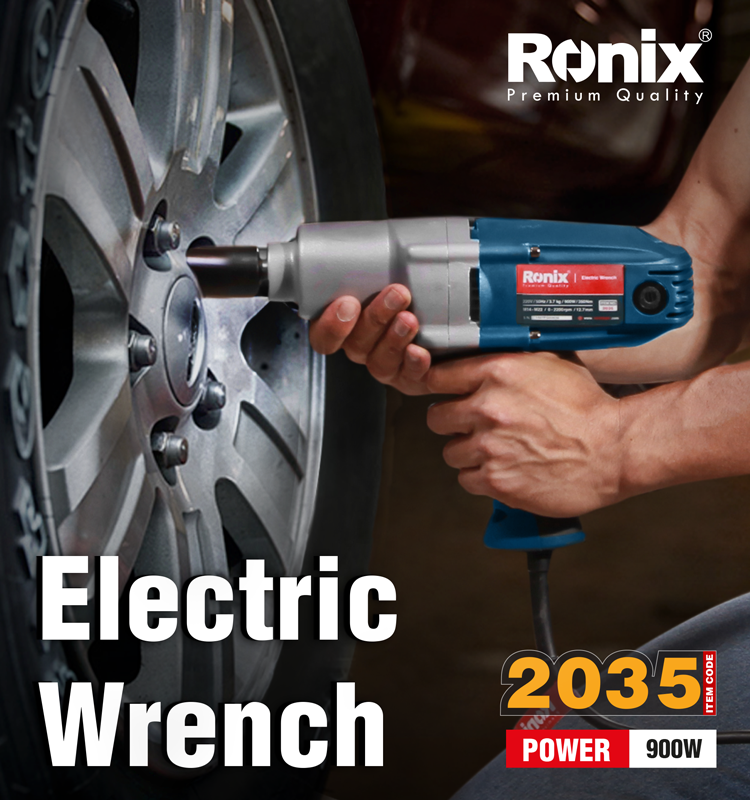 Ronix Wholesale heavy duty Power Tools electric Impact Wrench 1/2'' 900W Model 2035
