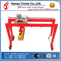Hot selling RTG rubber tyred type container portal gantry crane with long traveling limit switch