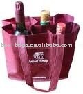 red nonwoven wine bottle bags