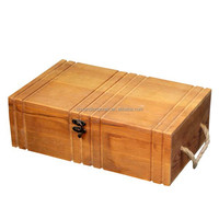 China supplier wooden wine bottle boxes in packaging box