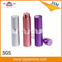 china rotatable refill metal glass perfume bottles atomizer