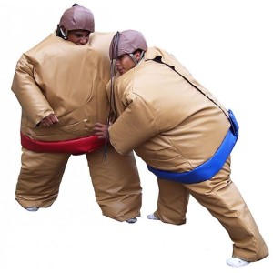 Double foam padded sumo suits, sumo wrestling costume suits with mat