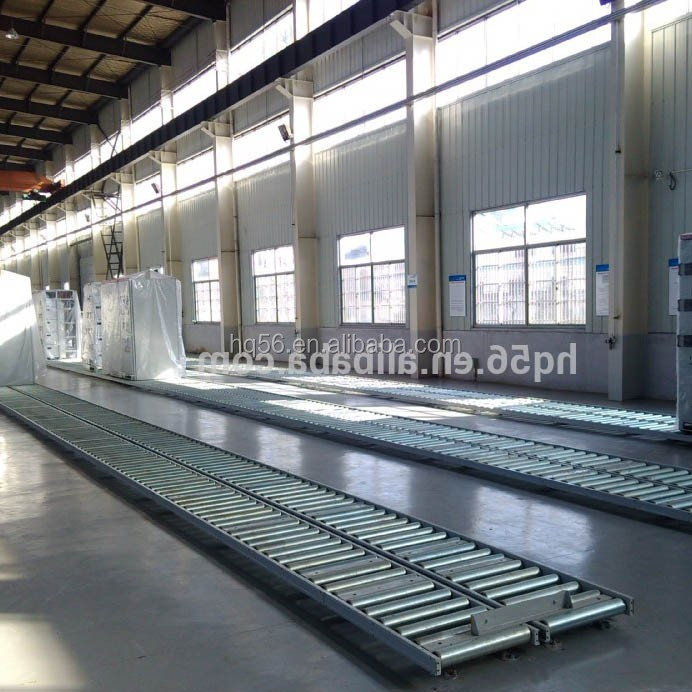 Ground installed type short-width steel roller conveyor system