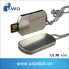 Wholesale Bead Chain Double Dog Tag Pendant usb 2.0 memory flash stick pen drive 8GB
