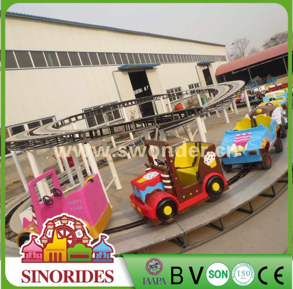 Outdoor train sets fun fair rides kiddie outdoor games electric mini train set for sale
