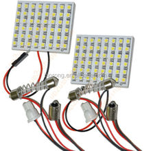 Panel White 36-3528 6*6 SMD LED Car Interior Dome Reading Light Bulbs Lamp