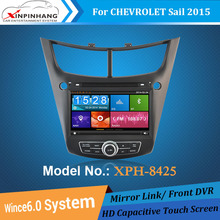 HD capacitive screen car dvd player car audio for Chevrolet Sail 2015