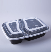 plastic disposable lunch box 2 compartment hot microwave food container