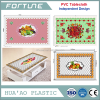 clear transparent pvc table cover 120 micron