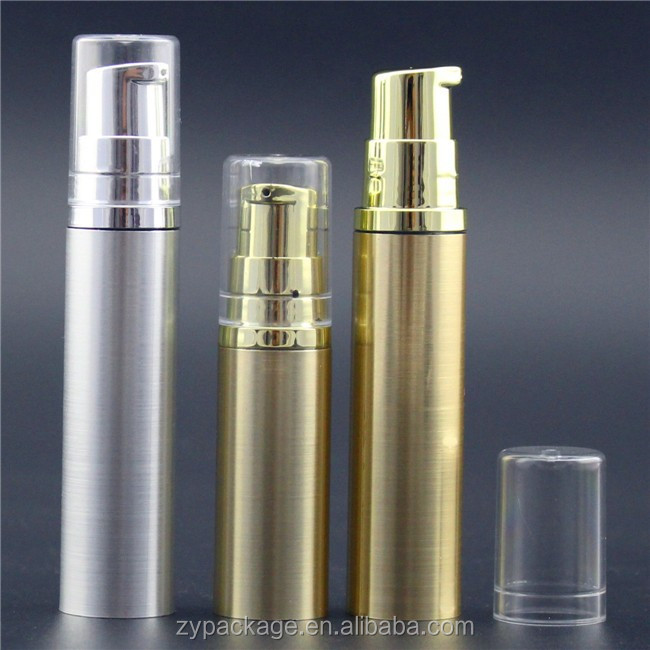 1/3 oz cosmetic bottle gold airless vacuum pump dispenser