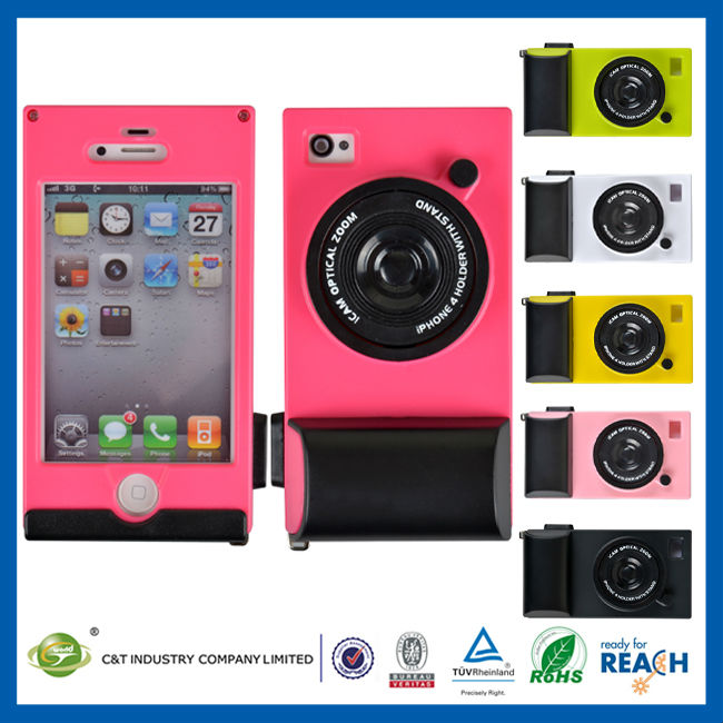 C&T Latest cute 3d camera hard case for iphone4s