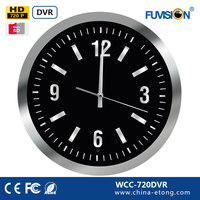 High quolity HD Wall Clock Hidden Camera P2P IP DVR Nanny Camera WCC-720DVR