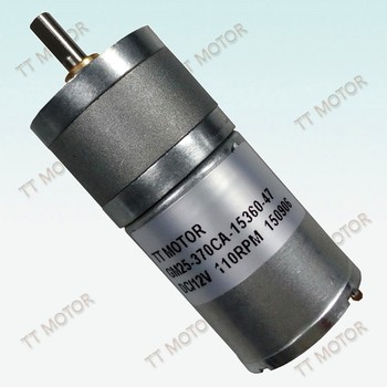 GM25-370CA 25mm 12 v dc electric gear motor low rpm