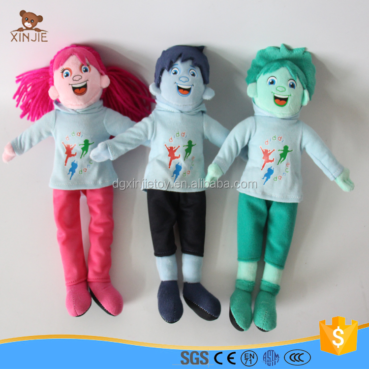 CE standard plush girl and boy doll toy with clothes