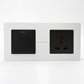 2 connected panel for 1 Gang 1 Wang Light control Rock Switch and 3 pin universal socket