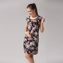 Maternity clothing breathable nursing dress breastfeeding clothing