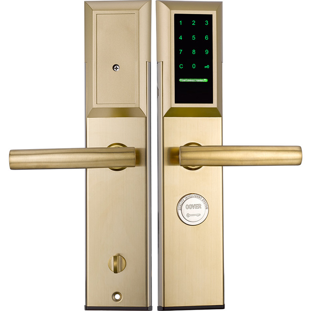 Korea Style Advanced Keyless Touch Screen Password digital safe smart door lock with key and card
