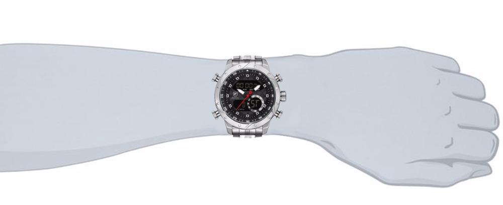 Snaggletooth SHARK Original Watch Male Sport Quartz Watch Chronograph  Wristwatch Relogio Alarm Clock For Mens Stopwatches  SH590 0b15b40023b26