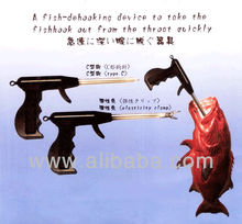 Fish-dehooking device