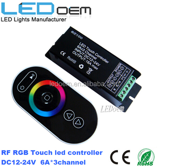 rgb RF touch LED controller