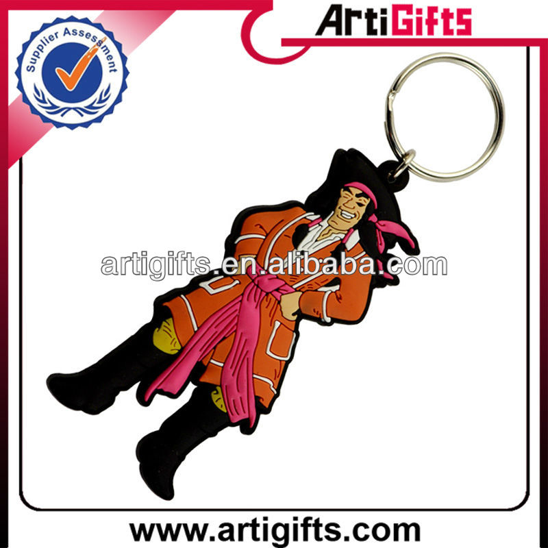 Hot selling fashion cartoon pvc keychain