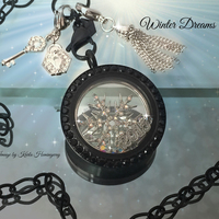 2015 fashion necklace jewelry black floating locket pendant for distributors canada