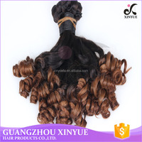 The 100% virgin raw human hair ombre colors cambodian fumi hair extension hair bulk