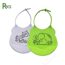 Waterproof Silicone Bib Easily Wipes Clean Comfortable Soft Fancy Baby Bibs