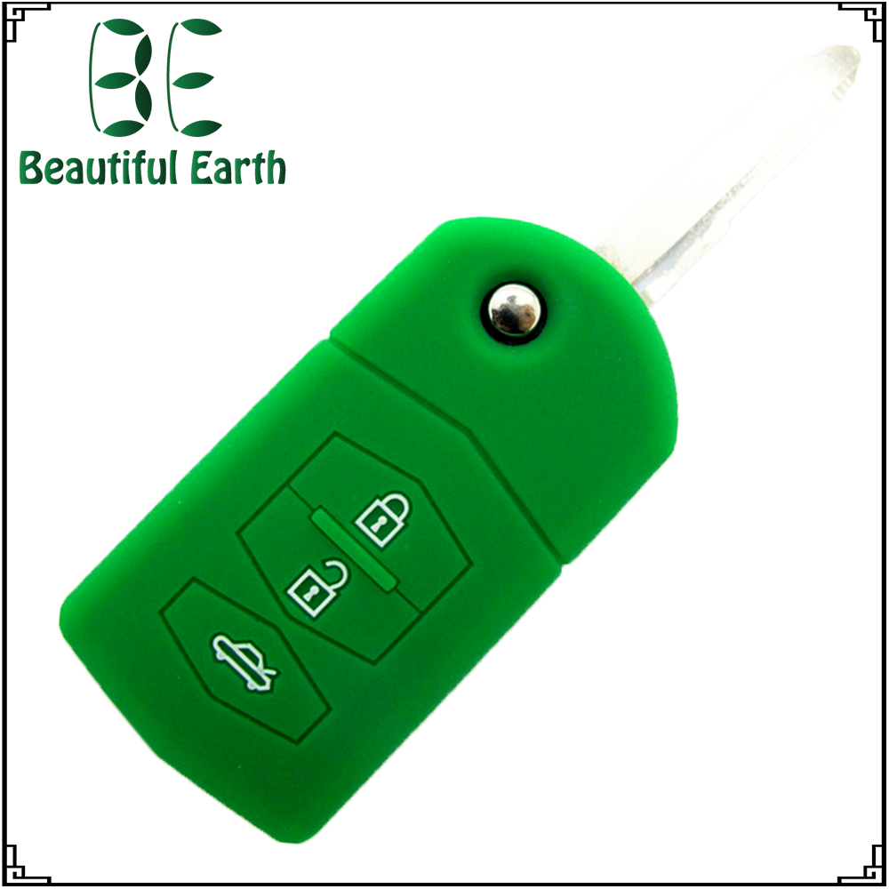 Mazda 3 button silicone car key case key replacement wholesale