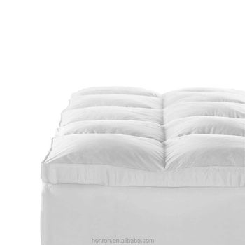 HONREN White Goose Topper Feather and Down Baffle Box Feather Bed Mattress Cover Top Hotel Mattress Topper